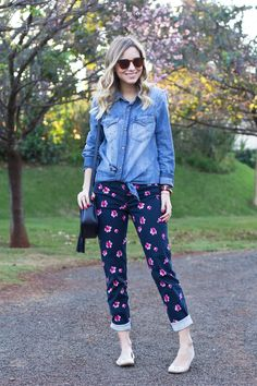 Look – Jeans   Floral