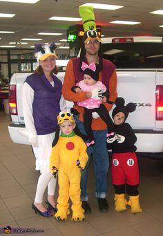 Mickey Mouse Crew - Halloween Costume   #DIY #Halloween #HalloweenCostumes #Costumes #Group #Family