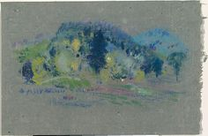 Arthur B. Davies, (American, 1862–1928). Spring Landscape, date unknown. The Metropolitan Museum of Art, New York. Gift of A. W. Bahr, 1958 (58.21.40) #spring