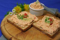 Budapeštianska nátierka Feta, Banana Bread, Cheese, Desserts, Recipes, Sandwich Spread, Red Peppers, Tailgate Desserts, Deserts