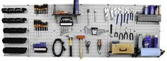 Wall Control Master Workbench Metal Pegboard Tool Organizer - It worked great and was for the right price.This Wall Control that is ranked 51776 in Metal Pegboard, Pegboard Storage, Tool Storage, Garage Storage, Storage Area, Storage Cabinets, Workbench Organization, Storage Organization, Garage Workbench