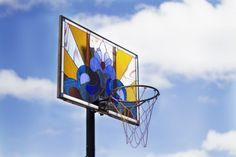 Hand Made Stained Glass Basketball Backboards