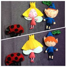 ben and holly made of felt Ben E Holly, Felt Crafts, Diy Crafts, Christmas Crafts, Christmas Ornaments, Childrens Gifts, Felt Toys, Arts And Crafts, Kids Rugs