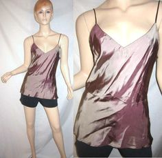 ERICA TANOV Bronze Camisole Cami Bias Cut Tank Dress Top 3...see more details at this link - http://stores.shop.ebay.com/vintagefluxed