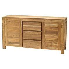 Reclaimed teak buffet handcrafted by North Indian artisans.      Product: Buffet    Construction Material: Reclaimed t...
