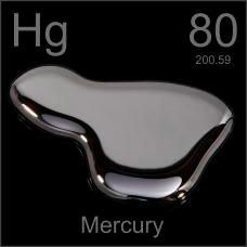 Hg Mercury  The only liquid metal ever!!