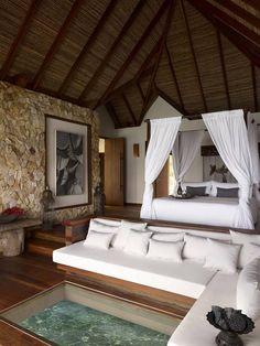 Song Saa Private Island is a boutique hotel in Koh Rong, Cambodia. Book your room in Song Saa Private Island on Splendia to enjoy great benefits and benefit from exclusive special offers ! Interior And Exterior, Interior Design, Luxury Interior, Lobby Interior, Luxury Rooms, Interior Livingroom, Luxury Decor, Kitchen Interior, Luxurious Bedrooms