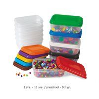 Keep craft supplies neat and tidy with our extra-durable containers! The 10 plastic containers are perfect for storing loose craft items—from beads and buttons to feathers, gems and much more! Containers measure 6 x x 2 and include 10 colorful lids. Art For Kids, Crafts For Kids, Arts And Crafts, Jewelry Making Supplies, Craft Supplies, School Supplies, Classroom Supplies, Lakeshore Learning, Home
