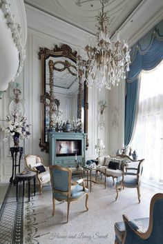 huge, ornate mantle mirror