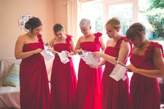 Red Bridesmaid gifts - wedding photography Red Bridesmaids, Bridesmaid Gifts, Bridesmaid Dresses, Wedding Dresses, Our Wedding, Wedding Gifts, Wedding Photography, Fashion, Bridesmaid Presents