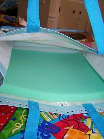 """Sit-Upons using reusable shopping bags and 1"""" foam"""