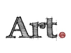 Pictures of the word art   The word art spelt out in graphic design lettering with a red full ...
