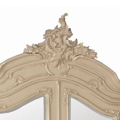 Normandy 2-Door Mirrored Shabby Chic Armoire (Image 3)