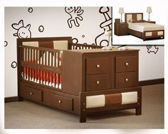 cunas de bebes de madera Baby Boy Room Decor, Baby Bedroom, Baby Boy Rooms, Baby Cribs, Kids Bedroom, Nursery Furniture Sets, Baby Furniture, Small Baby Bed, Dorm Rooms Decorating