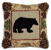 Hook rug pillow by Four Corners