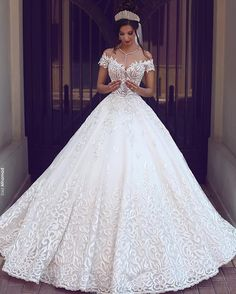 Cheap gown protector, Buy Quality dress bridal gown directly from China gown disposable Suppliers: 2017 Vintage Lace Wedding Dresses Off the Shoulder Short Sleeves Applique Wedding Bridal Gowns Robe De Mariage Custom Made Princess Wedding Dresses, Long Wedding Dresses, Dress Wedding, Tulle Wedding, Bridesmaid Dresses, Prom Dresses, Formal Dresses, Bride Dresses, Bridesmaids