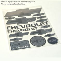 Car Metal Plate Stickers Decals Emblems For #Chevrolet ※ 0.3 mm Thickness is very thin, The actual metal sticker.