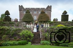 Askham Hall wedding, formal group photographs, Lake District wedding photography