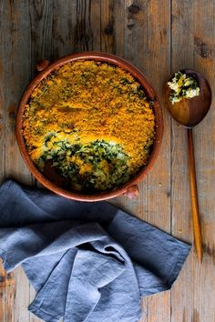 This is a Provençal style gratin, or tian, dense with greens and bound with rice and egg. You can play around with the mix of greens; switch out beet greens for spinach, or some of the chard for kale (kale will require a minute or two more of blanching). (Photo: Andrew Scrivani for The New York Times)