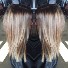 Copper Brown Extended Root. Rooty Blonde. .Fall Hair. Highlights. Lowlights. By @hair_by_megann