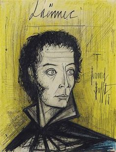 Artwork by Bernard Buffet, Laënnec, Made of gouache, India ink and wax crayon on paper