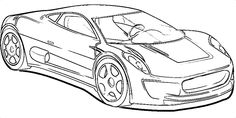 auto kleurplaat