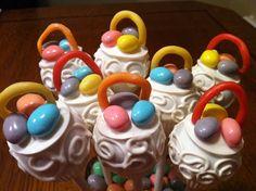 Easter basket lollicakes
