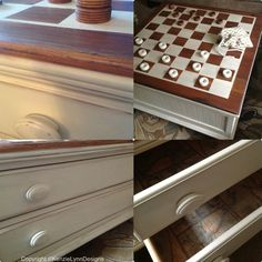 Cottage Chic Checkerboard Table $350 - Crystal Lake http://furnishly.com/catalog/product/view/id/3978/s/cottage-chic-checkerboard-table/