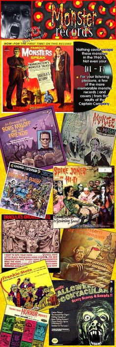 Monster records- I  love the Monster Mash song!