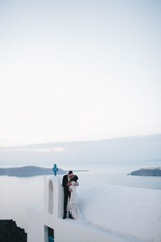 LANE Real Wedding / Sarah & Adam Santorini Elopement / Photography by Cassandra Ladru / LANE / Wedding Style Inspiration
