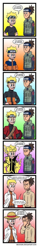 "Naruto and Iruka- this is when I hear the naruto abridged voice for Iruka, ""One Piece! I love One Piece! Naruto Uzumaki, Naruto Anime, Naruto Comic, Naruto Art, Naruto And Sasuke, Otaku Anime, Kakashi, Anime Manga, Sasunaru"