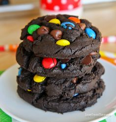 """If you love rich, chewy, chocolatey cookies that are packed full of """"stuff"""", then you will love these delicious M&M Chocolate Cookies. You can whip these cookies up quickly and easily, but they may disappear..."""