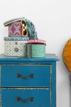 Patterned Storage Box - Set Of 3 #urbanoutfitters