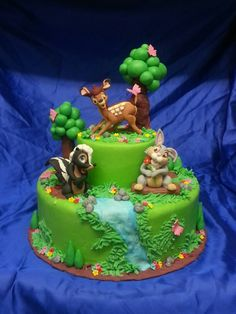 Bambi, 23 Birthday Cake, Frozen Birthday Party, Just Cakes, Cakes And More, Sophia Cake, Cupcake Cakes, Cupcakes, Woodland Cake