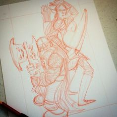 Gimli and Legolas in progress: For a limited time Ive lowered my commission prices. $25 BW (2 spots left); $50 some color (livestream) http://rndm.us/jms  # # #periscope #comics #commissions #artist #artistofinstagram #artistoninstagram #art #drawordie #drawdaily #drawventure #dippen  #mrjaymyers  #augustinks #lotr #gimli #legolas #elf #dwarf