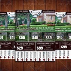 Free Lawn Care Flyer Templates | Projects to Try | Pinterest ...
