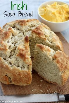 If you are looking to serve up some traditional Irish Recipes, consider making a loaf of this Irish Soda Bread. This bread will be great with any meal but a (irish potatoes pancakes) Irish Desserts, Asian Desserts, St Patricks Day Food, Scones, Holiday Recipes, Cooking Recipes, Irish Food Recipes, Scottish Recipes, French Recipes