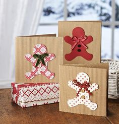 COUTURE CRAFT: GINGERBREAD MEN CARDS