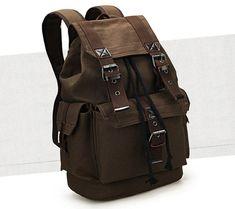 Fashion School Travel Laptop Canvas Shoulder Backpack Men's Rucksack Bags - cheapsalemarket Shoulder Backpack, Men's Backpack, Leather Backpack, Cheap Clothes Online, Online Clothing Stores, Men Bags, Women's Bags, Backpack For Teens, Vintage Backpacks
