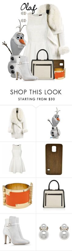 """Olaf - Winter - Disney's Frozen"" by rubytyra ❤ liked on Polyvore featuring WithChic, Ally Fashion, Generation Y, CC SKYE, Victoria Beckham, Alberta Ferretti, Finesse, Winter, disney and disneybound"
