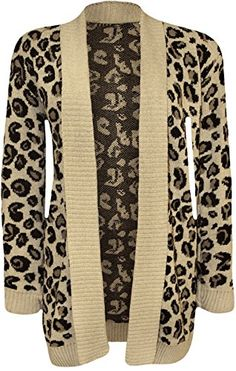 88882b0d37 WearAll Womens Animal Print Knitted Cardigan Stone US 810 UK 1214     Click  on the image for additional details. (This is an affiliate link)   ...