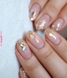 First steps with innovative nail art designs - # aesthetic .- Erste Schritte mit innovativen Nail Art Designs – – Today Pin Wedding nails nail design – ideas for the fashion-conscious bride – page 76 of 100 - Cute Nails, Pretty Nails, My Nails, Fall Nails, Short Nail Designs, Nail Art Designs, Nails Design, Clear Nail Designs, Jolie Nail Art