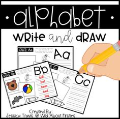 Looking for another alphabet activity to add to your collection?  This pack is perfect to add for students who are working on their letter sounds and beginning writing!Included is an alphabet template for each letter.  Students will write by sounding out 5 words with that beginning sound, followed by illustrating three of the words they write.Perfect for stations, literacy activities, fast finishers, morning work, and more!Hope you enjoy :)Jessica TravisWild About Firsties Alphabet Writing, English Alphabet, Alphabet Activities, Literacy Activities, Alphabet Kindergarten, Word Study, Word Work, English Projects, Alphabet Templates
