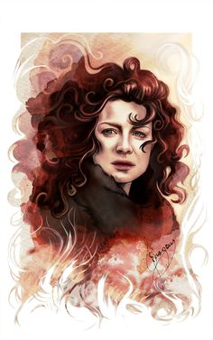 """moduinne-and-redjamie: """" """" Claire Fraser from Outlander. Please, don't repost my art. """" just stunning! Outlander Fan Art, Outlander Quotes, Outlander Series, Scottish Culture, Claire Fraser, Fantasy Films, Caitriona Balfe, Art Sketches, Creative Art"""