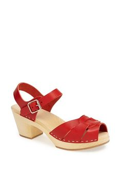 Swedish Hasbeens Peep Toe Sandal available at #Nordstrom