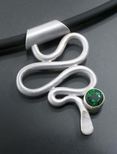 Squiggle Fabricated Sterling Silver & Topaz by MichaelTheeStudio, $100.00