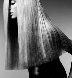 Long and blunt. In a perfect world, my hair would do this.