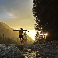 Positively glowing, mid-trail run at Forest Falls, California. Photo submitted by Andrejs Galenieks