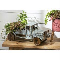 Galvanized farm truck planter #farmhouse #farmhousedecor