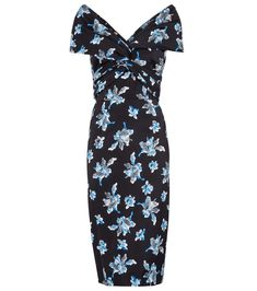 Diane von Furstenberg - Candice floral stretch-cady midi dress - Diane von Furstenberg's Candice orchid-print midi dress is a feminine design that you'll love for work and occasion wear alike. Made from cady blended with silk and stretch fibers, it fits flatteringly closely to the body and is framed with cap sleeves that sit slightly off the shoulders. seen @ www.mytheresa.com Ascot Outfits, Shop The Runway, Black Midi Dress, Occasion Wear, Black Silk, Von Furstenberg, Wrap Dress, Women Wear, Luxury Fashion